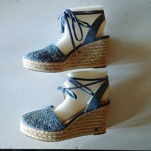 Michael Kors Women's Darci Closed Toe Wedge Sandal